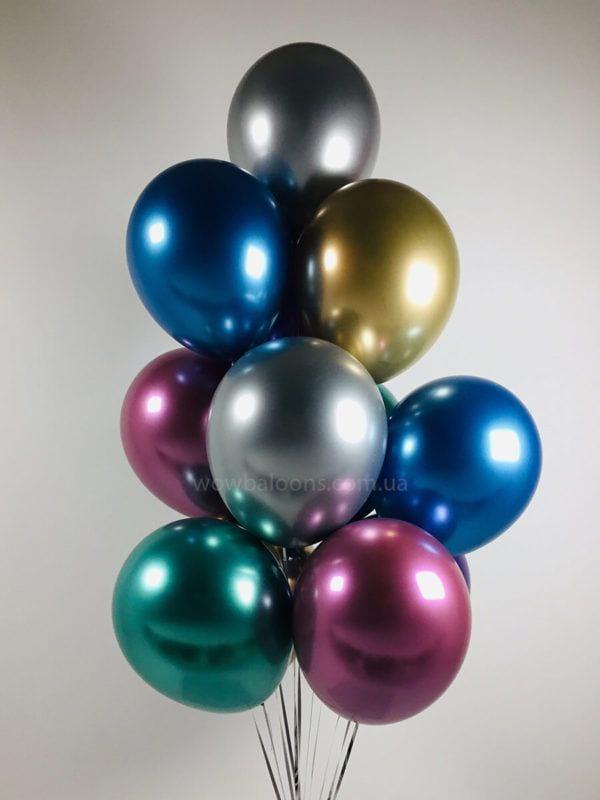 Гелієві кульки Хром, цілодобова доставка Київ
