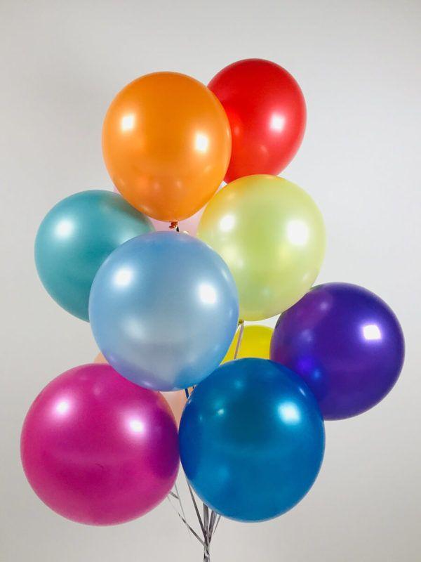 Латексные шарики металик размер 30 см