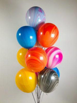 Латексные шарики агат