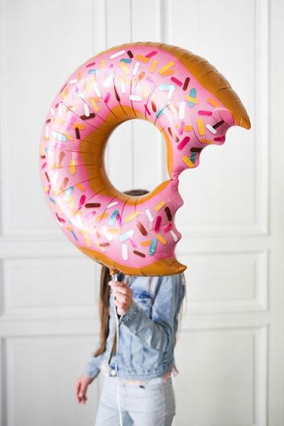 Фольгований шар пончик
