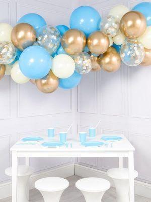 Бело-голубая с золотым Хромом
