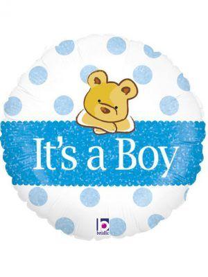 """Медвежонок """"Это мальчик"""" Размер: 18″ (46 см)"""