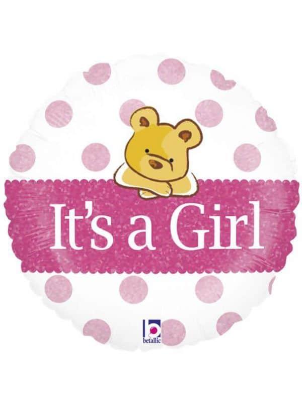 """Медвежонок """"Это девочка"""" Размер: 18″ (46 см)"""