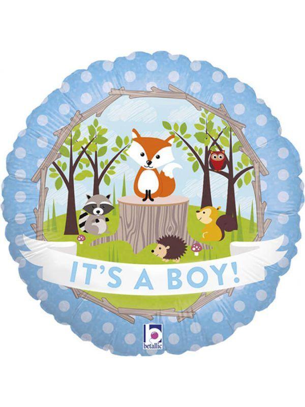 """Зверюшки на поляне """"Это мальчик"""" Размер: 18″ (46 см)"""