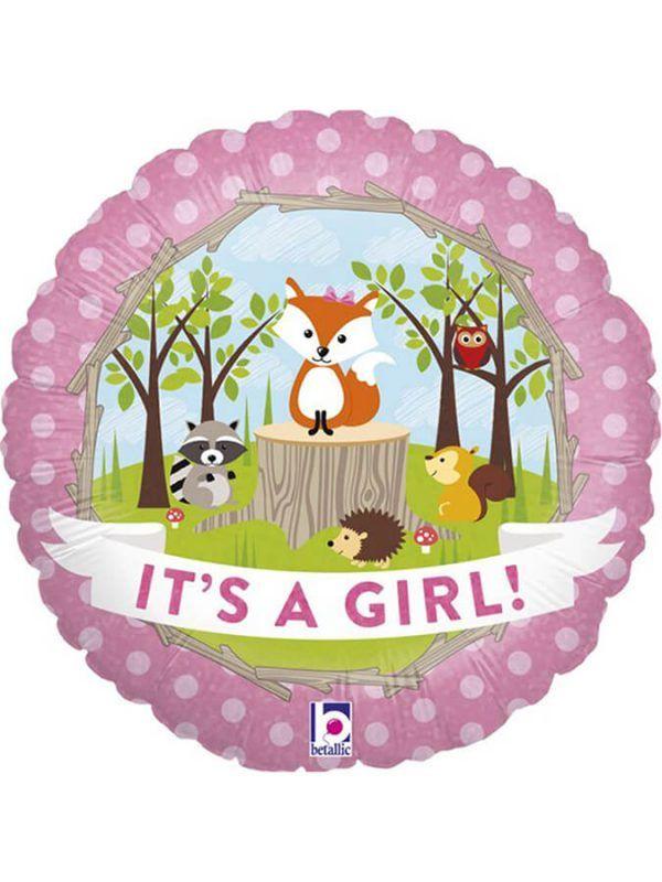 "Зверюшки на поляне ""Это девочка"" Размер: 18″ (46 см)"