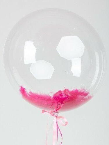 Bubble с цветными перьями