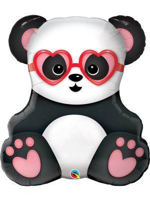 Фольгированный шар: Панда в очках