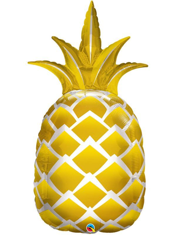 Фольгированный шар: Ананас золотой
