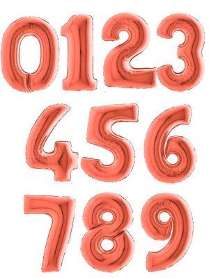 Фольгированная цифра розовое золото