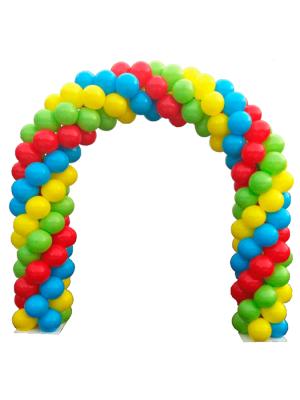 Плетёная гирлянда из шариков