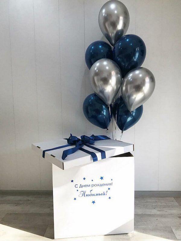 Коробка-сюрприз с шарами №2