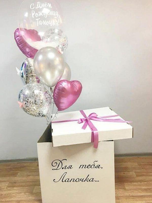 Коробка-сюрприз с шарами №3