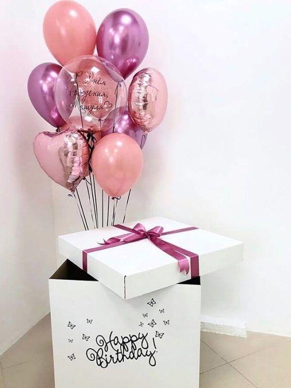 Коробка-сюрприз с шарами №4