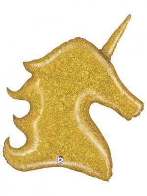 Единорог золотой Размер: 30″ (74 см)
