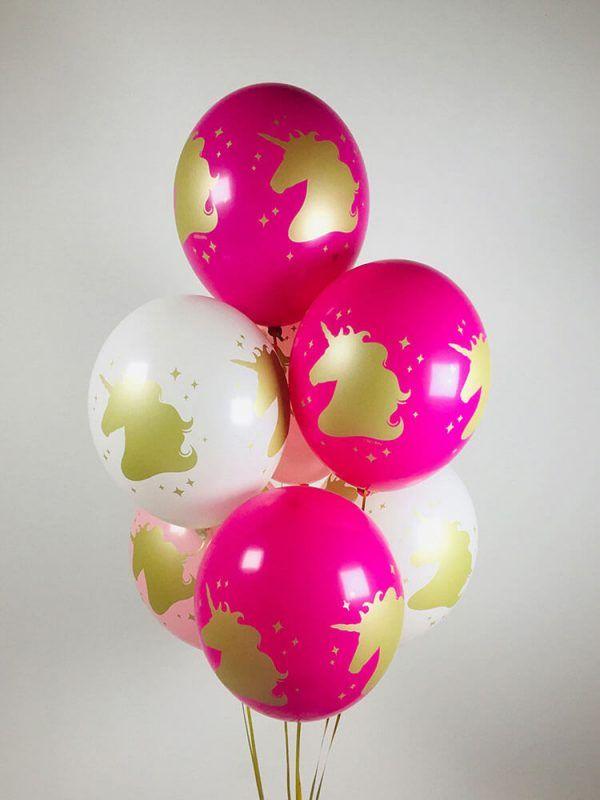 """Гелиевые шарики """"Голова единорога"""" Размер: 14"""" (35 см)"""