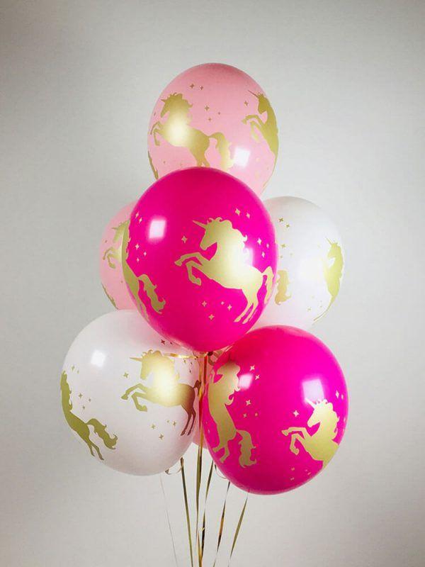 """Гелиевые шарики """"Единороги"""" Размер: 14"""" (35 см)"""