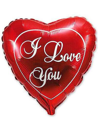 """Велике червоне серце ІLY Розмір: (18 """") 46 см"""