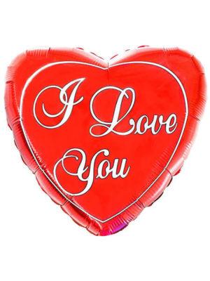 """Большое красное сердце ІLY Размер: (32"""") 79 см"""
