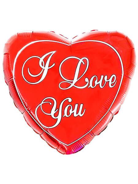 """Велике червоне серце ІLY Розмір: (32 """") 79 см"""