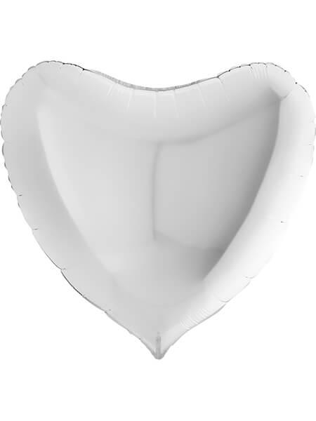 """Большое сердце белое пастель Размер: (36"""") 90 см"""