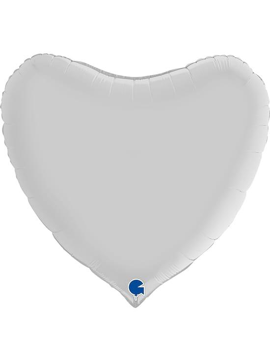 """Велике серце біле сатин Розмір: (36 """") 90 см"""