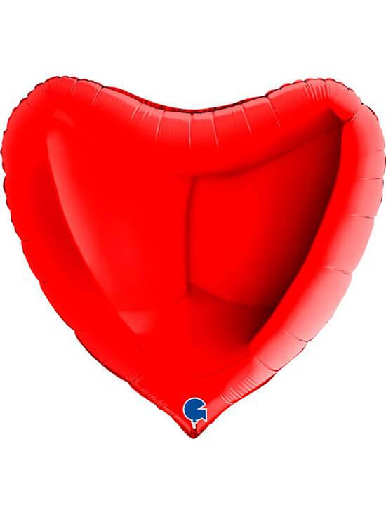 """Большое сердце красное Размер: (36"""") 90 см"""