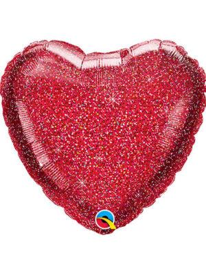 """Сердце красное блеск Размер: (20"""") 51 см"""
