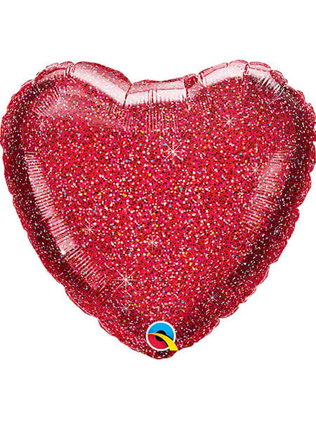 """Серце червоне блиск Розмір: (20 """") 51 см"""
