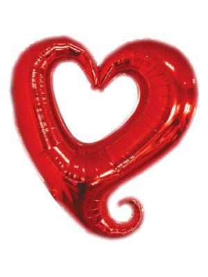"""Сердце красное вензель Размер: (32"""") 80 см"""
