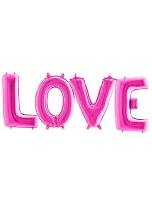 """Шары-буквы """"LOVE"""" фуксия Размер: (40"""") 100 см"""