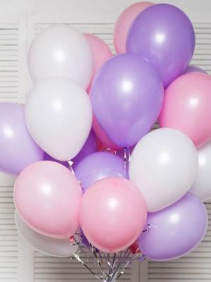 Гелиевые шары на выписку для девочки «Ассорти для девочки»