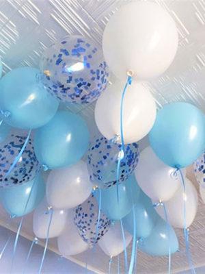 Гелиевые шары на выписку для мальчика «Ассорти для мальчика»