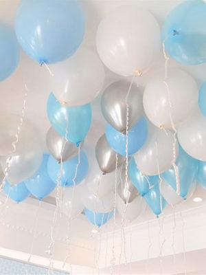 Гелиевые шары на выписку для мальчика «Ассорти для мальчика Металлик»