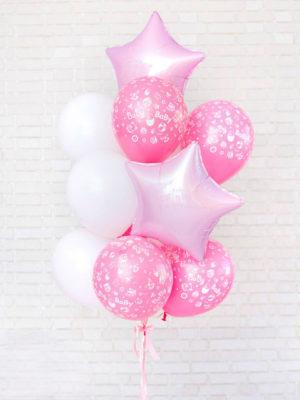 Набор шаров на выписку для девочки «Розовая нежность»