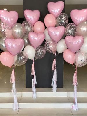 Набор шаров на выписку для девочки «Розовый пастель»