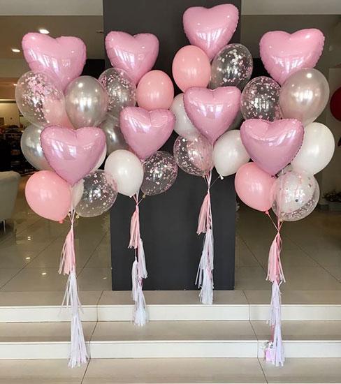 Набір куль на виписку для дівчинки «Рожевий пастель»