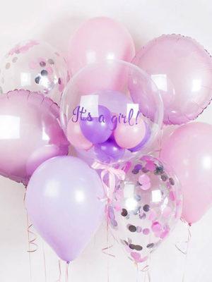 Набор шаров на выписку для девочки «Воздушная нежность»