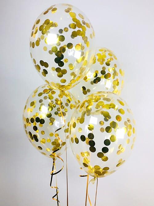 Кульки з конфетті Золоті кружечки