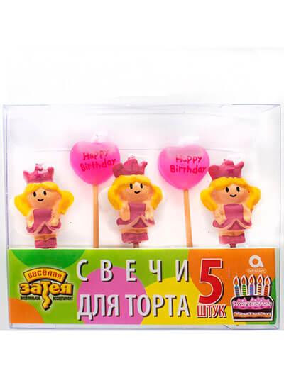 Свічки для торта на піках Принцеса
