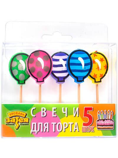 Свічки для торта на піках Шарик