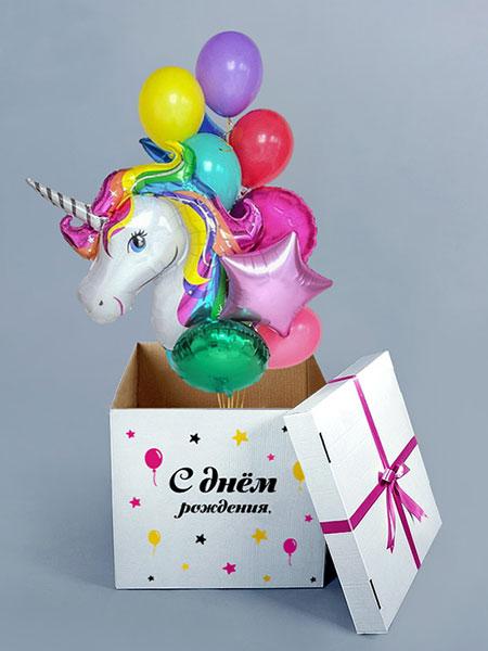 Коробка с шарами на День рождения Девочки