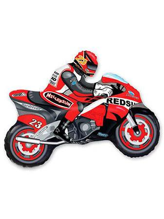 Мотоциклист красный Размер: 84 см
