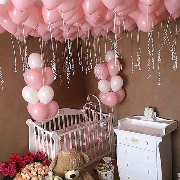 Оформлення кімнати для новонародженого кулями «Pink»