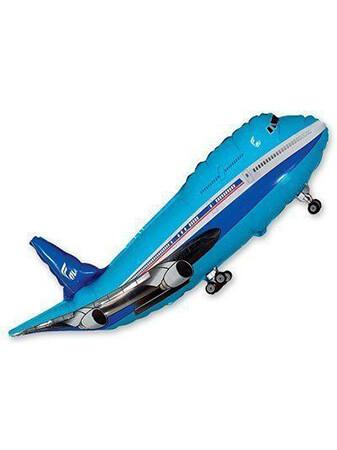 Самолет синий Размер: 100 см