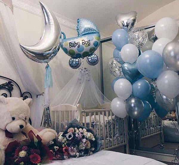 Прикраса кімнати на виписку з пологового будинку «Baby Boy»