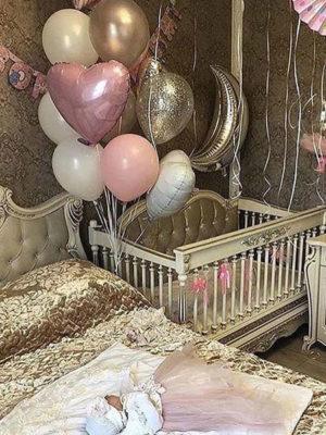 Украшение шарами на выписку «Новорожденные»