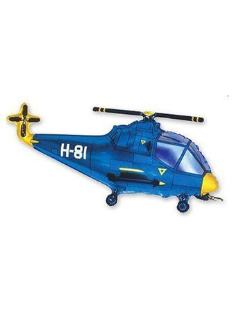 Вертолет синий Размер: 96 см