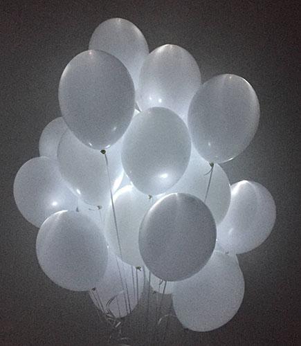 Светящиеся шарики на свадьбу