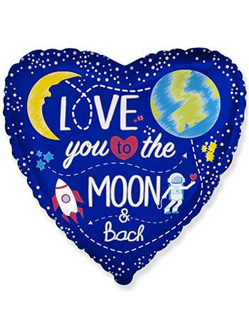 Фольгированный шарик Love you to the moon & back