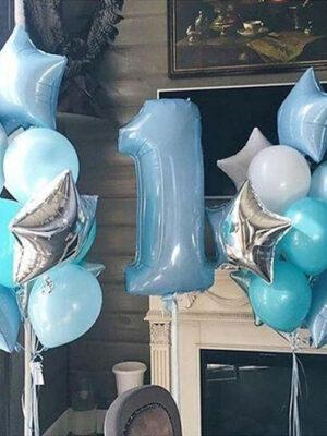 Кульки на 1 рік хлопчикові «Блакитний і бірюза»